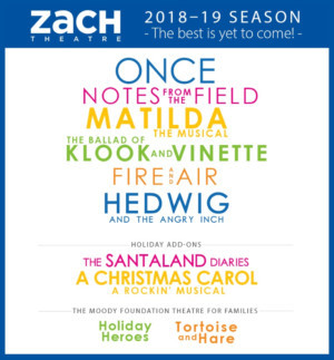 ZACH Theatre Announces The 2018-19 Season Full Of Texas Premieres And New Work