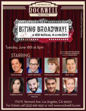 Jared Gertner, Davis Gaines, Gwen Hollander And More To Star In Concert Of New Musical, BITING BROADWAY