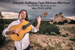 Joaquín Gallegos to Play Music From New Album Featuring Bárbara Martínez