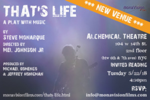 Industry Reading Of THAT'S LIFE By Steve Monarque Will Be Held at Alchemical Theatre Lab