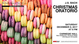 The Cecilia Chorus of New York to Present Bach's CHRISTMAS ORATORIO at Carnegie Hall