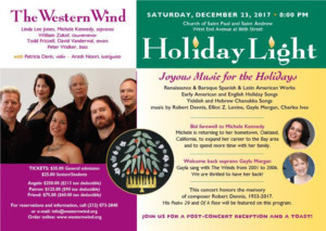 The Western Wind Vocal Sextet presents HOLIDAY LIGHT
