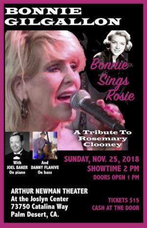 Bonnie Gilgallon Stars In BONNIE SINGS ROSIE A Rosemary Clooney Tribute