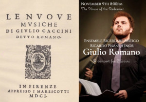 Ensemble Ricercare Antico With Tenor Riccardo Pisani Performs Caccini Program In The 1607 Library Of The House Of The Redeemer