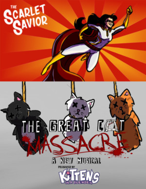 Write Act and Back Table ink. Announce THE SCARLET SAVIOR and THE GREAT CAT MASSACRE