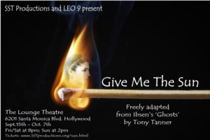 Tony Tanner Directs World Premiere of GIVE ME THE SUN