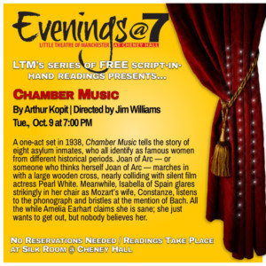 LTM's Popular Play Reading Series Evenings@7 Continues With CHAMBER MUSIC