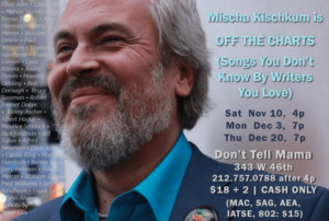SONGS YOU DON'T KNOW BY WRITERS YOU LOVE Plans November Opening at Don't Tell Mama