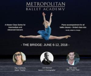 Metropolitan Ballet Academy Announces Guest Teaching Artists For THE BRIDGE