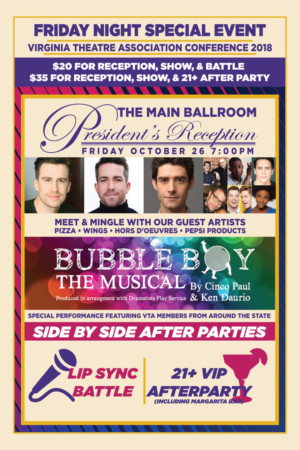 Virginia Theatre Association Will Host its President's Reception And Staged Reading Of BUBBLE BOY The Musical