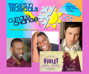 Additional Performers Forecast For (mostly)musicals' CLIMATE CHANGE Monday Night At Vitello's
