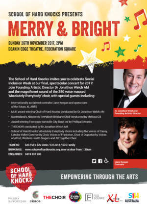 Be Merry and Bright Celebrate Social Inclusion Week with THE SCHOOL OF HARD KNOCKS!