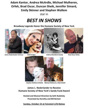 Duncan Sheik, Jennifer Simard and Emily Skinner Sign on for BEST IN SHOWS Benefit at Feinstein's/54 Below