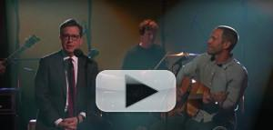 VIDEO: Jack Johnson and Stephen Colbert Perform Together