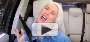 VIDEO: Christina Aguilera Sings New Single 'Fall in Line' on Carpool Karaoke