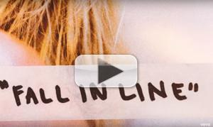 VIDEO: Christina Aguilera Releases FALL IN LINE Lyric Video Feat. Demi Lovato