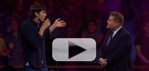VIDEO: James Corden and Ashton Kutcher Compete in an Epic Rap Battle