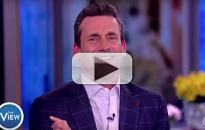 VIDEO: Jon Hamm Chats Working As A Set Decorator, Theatre Teacher, & More on THE VIEW