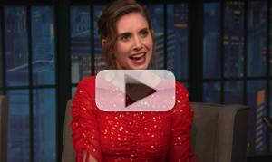 VIDEO: Alison Brie Chats GLOW Season Two, Throwing A Surprise for Dave Franco, & More on LATE NIGHT WITH SETH MEYERS