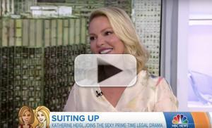 VIDEO: Katherine Heigl Chats SUITS and Motherhood on THE TODAY SHOW