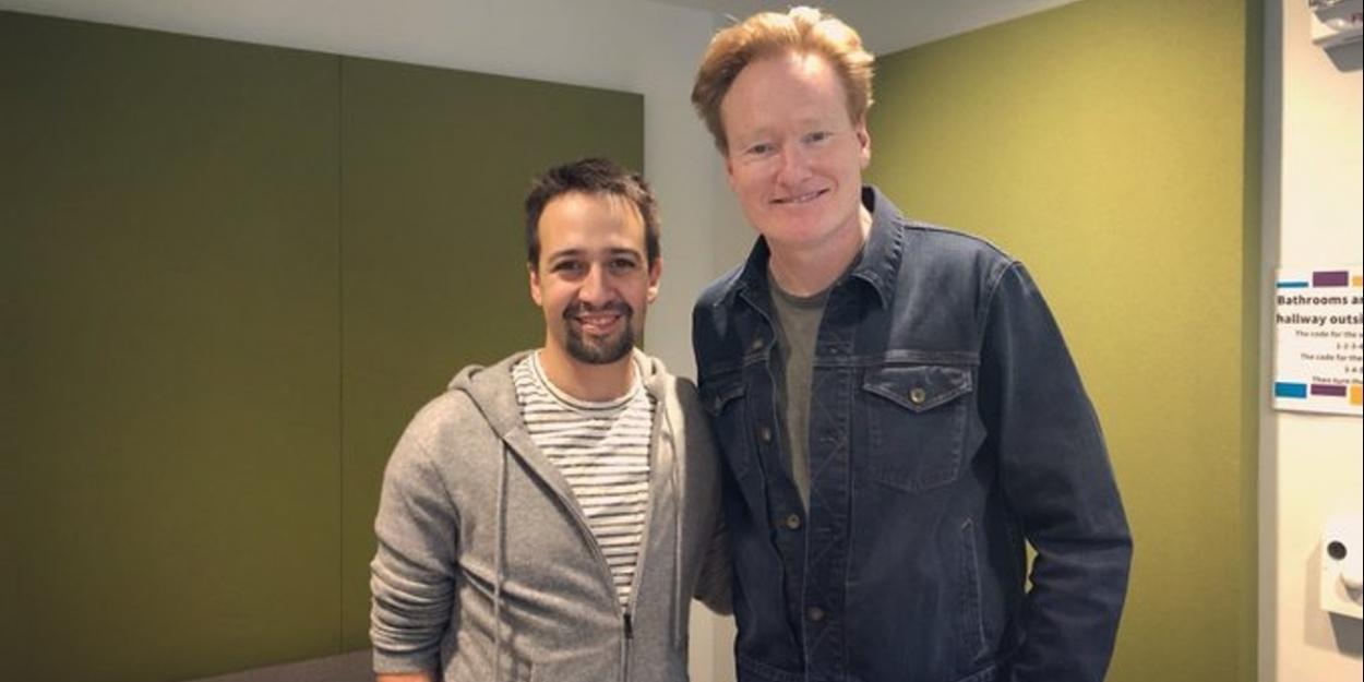 LISTEN: Lin-Manuel Miranda Joins Conan O'Brien on Newest Episode of His Podcast