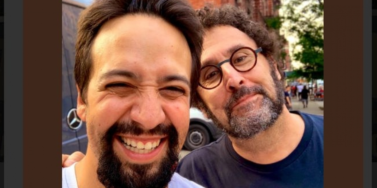Photo: WEST SIDE STORY Scribe Tony Kushner Hangs With IN THE HEIGHTS Composer Lin-Manuel Miranda In NYC