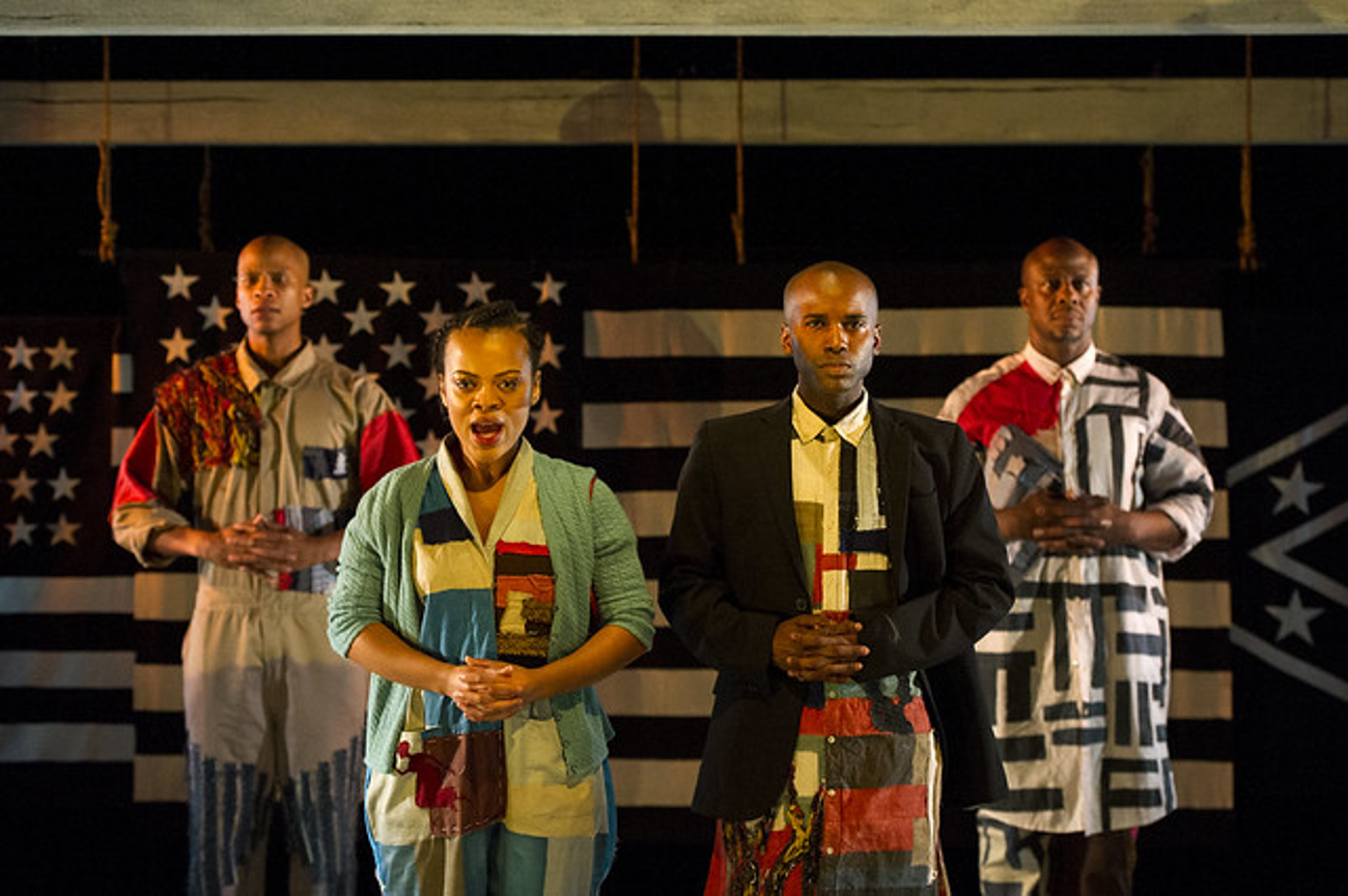 BWW Review: AMERICA V. 2.1: THE SAD DEMISE & EVENTUAL EXTINCTION OF THE AMERICAN NEGRO at Barrington Stage Company Packs far more than a 1 - 2 Punch.