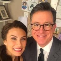 Stephen Colbert Visits Laura Benanti at MY FAIR LADY!