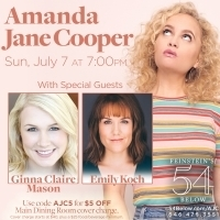 Amanda Jane Cooper Returns to 54 Below with Guests Ginna Claire Mason and Emily Koch Photo
