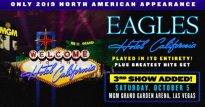 Third and Final Show Added for The Eagles Live at MGM Grand