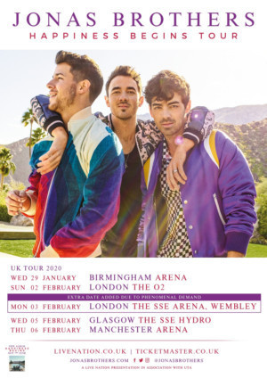 Jonas Brothers Announce Additional London Show to Due Demand