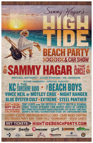 KC And The Sunshine Band Joins Lineup For Sammy Hagar's Second Annual 'High Tide Beach Party & Car Show'