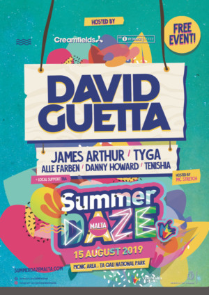 David Guetta, Paul Kalkbrenner, Green Velvet to Perform at Malta's Summer Daze