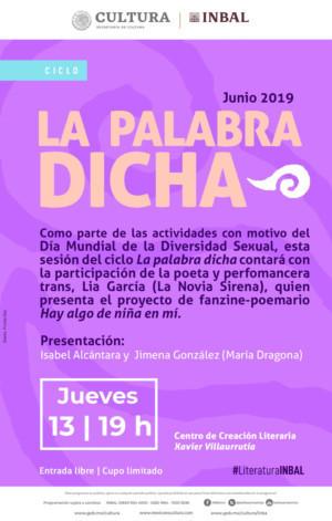 La artista trans Lia García realizará performance con motivo del Día Mundial de la Diversidad Sexual