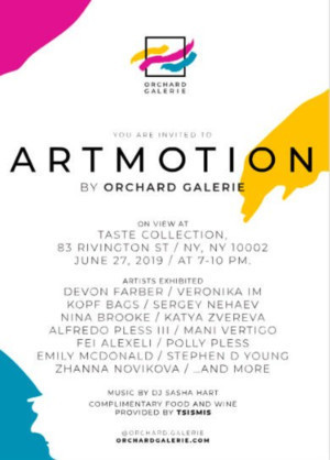 ARTMOTION Presents One Night Only Event at Taste Collection
