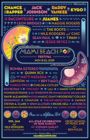 Chance The Rapper, Jack Johnson to Headline Inaugural Miami Beach Pop Festival