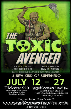 Casting Announced For Blank Canvas Theatre's THE TOXIC AVENGER