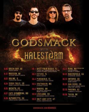 Godsmack Extend 2019 Summer Tour Dates, UNDER YOUR SCARS #5 on Active Rock Chart