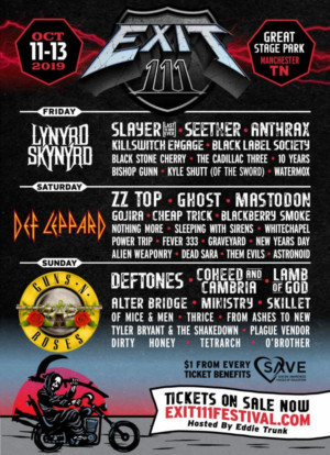 Anthrax, Killswitch Engage Added to Exit 111 Festival Lineup