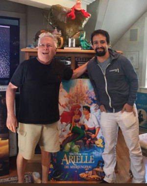 Photo: Lin-Manuel Miranda & Alan Menken Get To Work On A New Song For THE LITTLE MERMAID