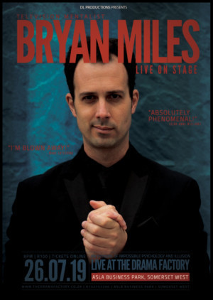 The Drama Factory to Host BRYAN MILES: LIVE