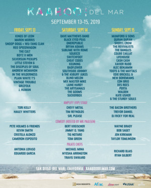 KAABOO Del Mar Releases Daily Schedules for Sept 14-16th Event