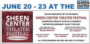 Sheen Center Theater Festival To Feature Broadway's Brenda Braxton, Ken Jennings, Tina Fabrique & More