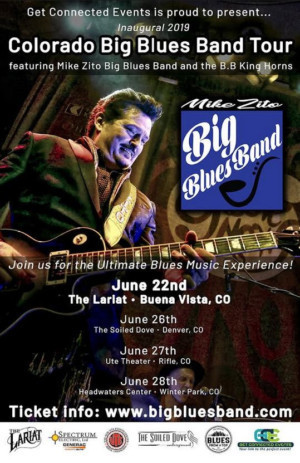 Big Blues Band 2019 Colorado Tour Features Mike Zito, B.B. King Horns In Concert At The Lariat