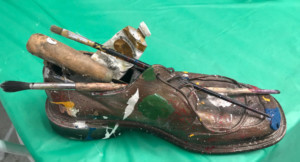 Artist George Gadson Shares Shoes With Habitat For Humanity