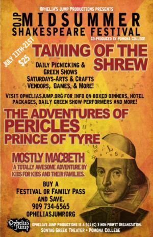 2019 Annual Midsummer Shakespeare Festival Announced