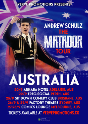 Andrew Schulz Will Embark On THE MATADOR Tour