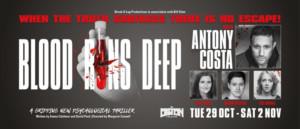 Antony Costa Will Star In BLOOD RUNS DEEP Premiering At The Epstein Theatre