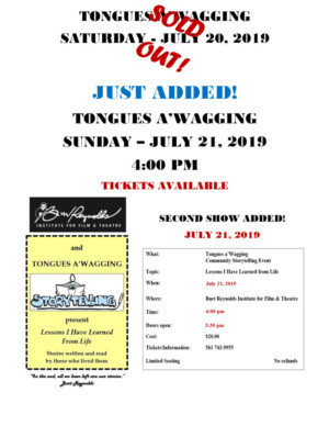Burt Reynolds Institute Adds Second TONGUES A'WAGGING Show
