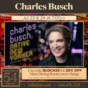 Charles Busch Returns To Feinstein's/54 Below This Month